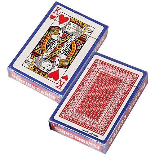 Senbos Standard Spielkarten, 2X Designer Profi Pokerkarten mit Zwei Eckzeichen, Top Qualität für Texas Holdem Poker, Blackjack, Euchre, Canasta, Pinochle-Kartenspiel, Casino Grade