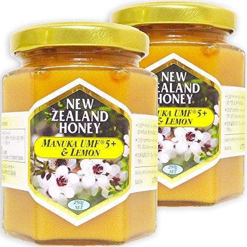 ハニーマザー マヌカハニー UMF5+&レモン 250g×2個 セット 非加熱 100%純粋 天然はちみつ ニュージーランド産 マヌカ蜂蜜 フルーツ