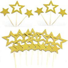 Gold Star Cupcake Toppers Star Cupcake Toppers Twinkle Little Star Decorations Birthday Cupcake Toppers Glitter Star Cake ...