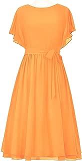 CladiyaDress Women Jewel Neck Chiffon A-line Short Bridesmaid Dresses Prom Gowns D089LF