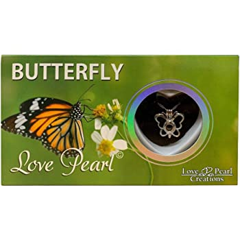 Love Pearl Creations Wish Kit with Pendant Necklace Butterfly