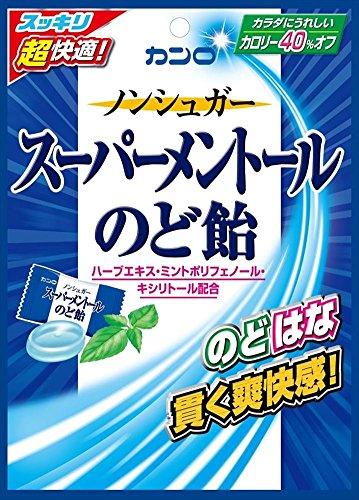 カンロ ノンシュガースーパーメントールのど飴 80g(個装紙込み)×6個