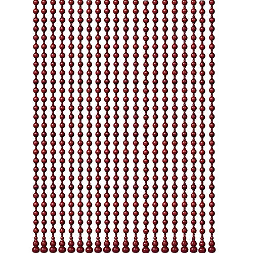 ZXL parelgordijn van hout voor deuren woonkamer scheidingswand blindkamer decoratie donkerrood verschillende maten 25 koorden (grootte: 25 koorden L x B -0.86 x 1,0 m)