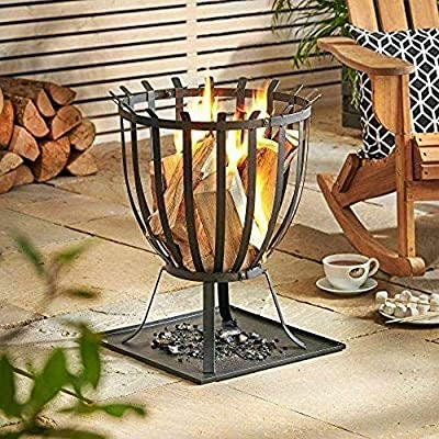 Direct121 products ltd Round Fire Pit BBQ Grill Heater Outdoor Garden Firepit Brazier Patio Outside New by Direct121 products ltd