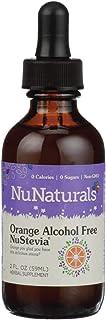 NuNaturals NuStevia Liquid Orange Stevia Alcohol Free Natural Liquid Sweetener, Sugar-Free, 295 Servings (2 oz)