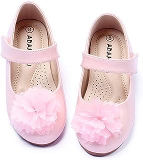 کفش باله دخترانه ADAMUMU کفش باله مری جین تخت گلر برای مهمانی عروسی پرنسس بچه های کوچک