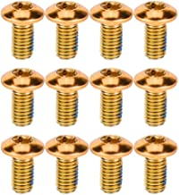 BESPORTBLE 12 tornillos de titanio para bicicleta de montaña (rojo)