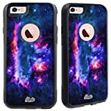 Unnito iPhone 6 Case – Hybrid Commuter Case | Slim Cover with Hard Shell Design and Soft Inner Layer Compatible with iPhone 6S Black Case - (Nebula Sci FI)