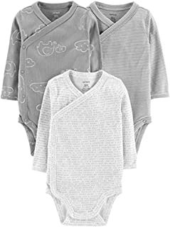 Baby Boys' 3-Pack Side-Snap Bodysuits