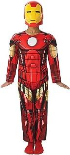 Iron Man Boys Costume Movie Marvel Comics Superhero Jumpsuit and Mask