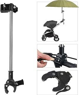 Adjustable Umbrella Mount Holder No Need Any Tooling to Attach Umbrella Clamp, Umbrella Connector Holder to Wheelchairs, Walker, Rollator, Bike, Pram, Stroller, Camera's Tripod
