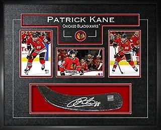 Frameworth Patrick Kane Signed Stickblade Blackhawks w/3-4x6 Photos - Autographed NHL Sticks