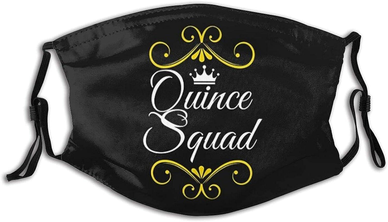 Membrillo Squad Quinceañera Face M-A-S-K - Bandana lavable para adultos y hombres y mujeres