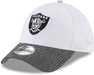 New Era Oakland Raiders Equalizer 39THIRTY Stretch Fit Cap, Hat White Black