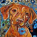 Pintura por Números,Pintado perro animal,DIY Pintura al óleo Colorido Pintar Kit de,Lienzo Preimpreso de con Pinceles y Pigmento Acrílico (16 X 20 Pulgadas,Sin Marco)