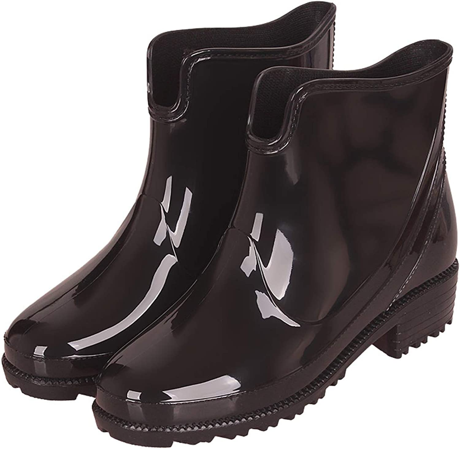 Rain Boots Ladies Fashion Water shoes Low to Help Women's rain Boots(-