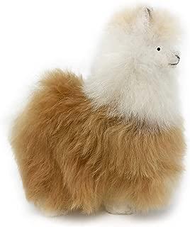 Standing Baby Alpaca Fur Alpaca Miniature Figure - Multi Colored 5 Inch