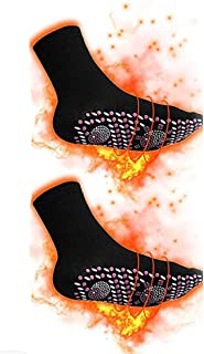 Calcetines magnéticos de turmalina para invierno, Calcetines calentables térmicos Calcetines de turmalina para mujeres Hombres