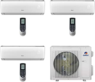 GREE MULTI24CLIV300-24,000 BTU Multi21+ Tri-Zone Wall Mount Mini Split Air Conditioner Heat Pump 208-230V (9-9-9)