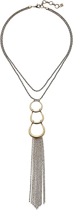 Lucky Brand - Hoop Pendant Necklace with Fringe