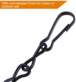 Outus Hanging Chain for Hanging Bird Feeders, Birdbaths, Planters and Lanterns, 4 Pack (35 Inch, Black)