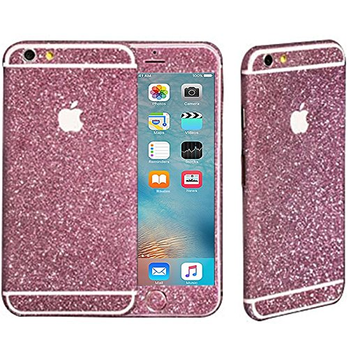 Rhaise iPhone 6S Plus / iPhone 6 Plus GLITZER HANDY FOLIE Skin Schutz Bling ultra dünn Glitzerfolie Schutzfolie in PINK