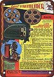 metalsigns 1940Excel 16mm Film Projektoren Vintage Look Reproduktion Metall blechschild 20,3x 30,5cm