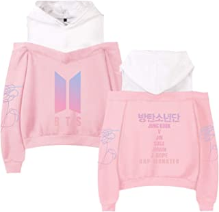 Kpop BTS Love Yourself Hoodie Suga Rap Monster Jungkook J-Hope Jimin Jin V Off Shoulder Pullover Sweatshirt