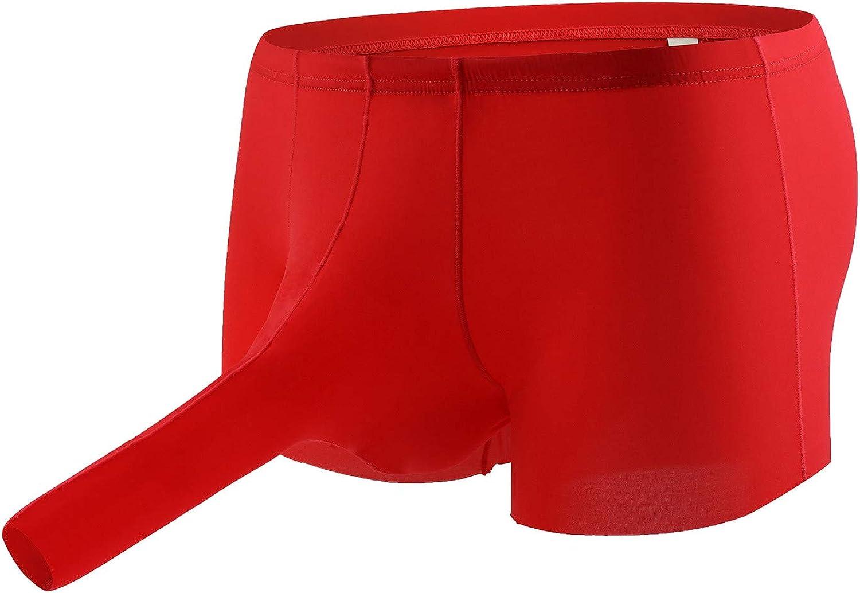 Men's Elephant 100% quality warranty! Nose Oakland Mall Boxer Underwear Ice Sof Silk U-Shaped Briefs