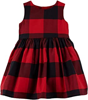 Carter's Baby Girls Red Buffalo Check Holiday Dress