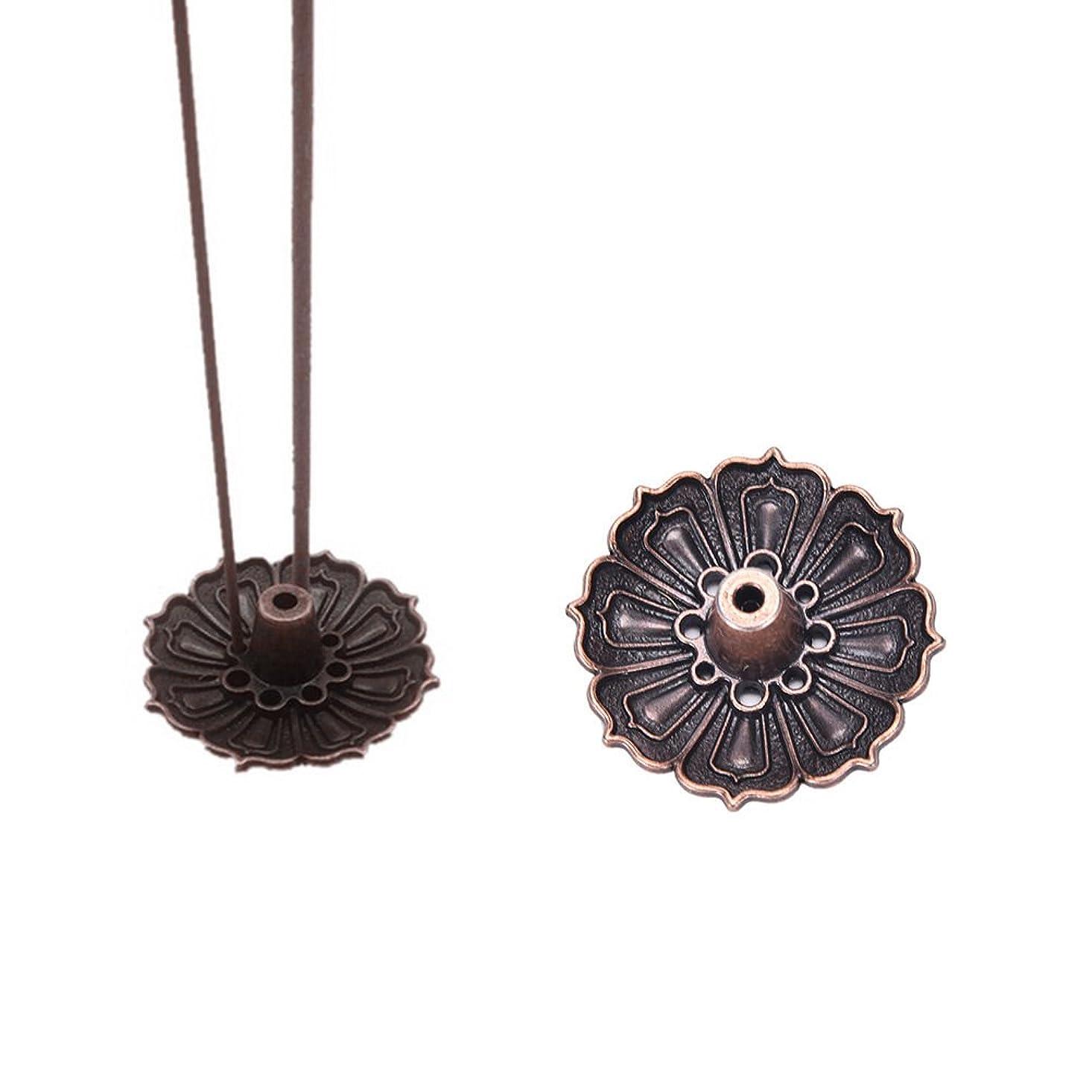 性能含めるのヒープFidgetGear 9 Holes Lotus Incense Burner Holder Flower Statue Censer Plate For Sticks&Conead