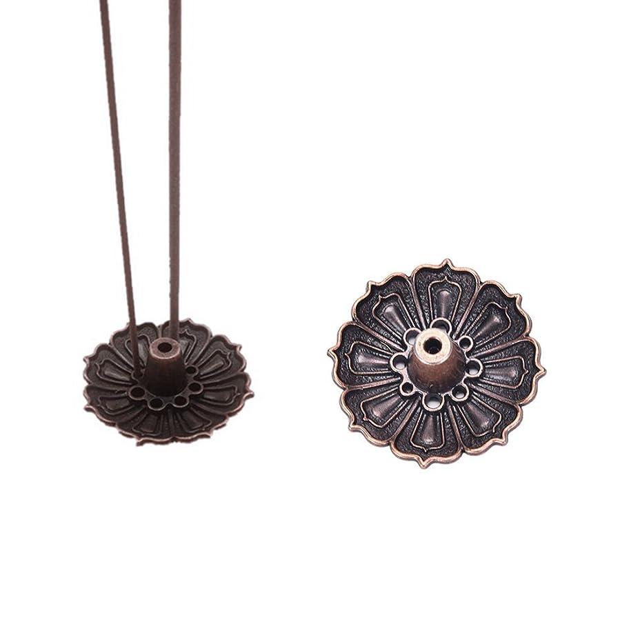 マイル神忌まわしいFidgetGear 9 Holes Lotus Incense Burner Holder Flower Statue Censer Plate For Sticks&Conead