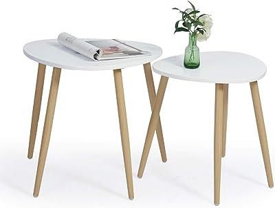 colore: nero Meuble Cosy 45,5 x 40 x 41,5 cm Tavolino da t/è scandinavo design moderno