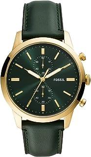 ساعة فوسيل للرجال كوارتز ، كرونوغراف وشاشة و سوار جلد FS5599
