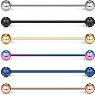 16 Gauge Industrial Barbell Cartilage Earring Body Piercing Jewelry 1 5/8 Inch(40mm)