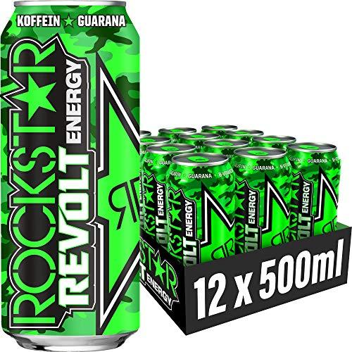 Rockstar Energy Drink Revolt Killer Citrus - Koffeinhaltiges Erfrischungsgetränk für den Energie Kick, EINWEG Im Camouflage Look, EINWEG(12x 500ml)