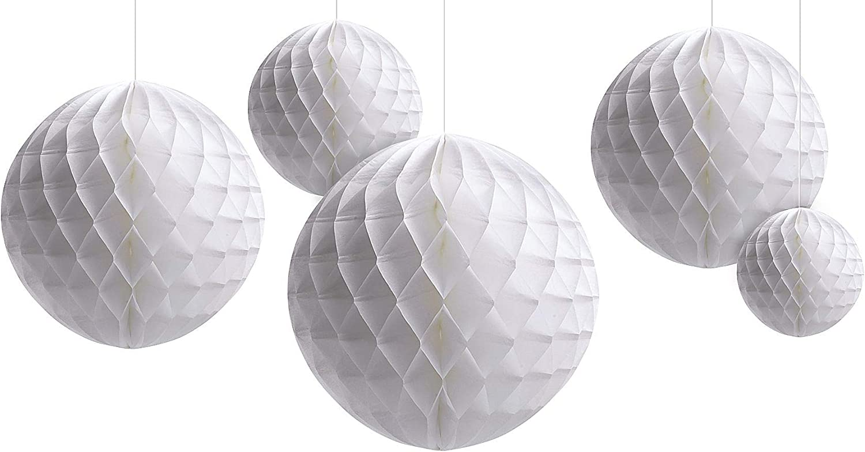 Amscan Honeycomb Wedding Ball Kit-White - 5 pcs