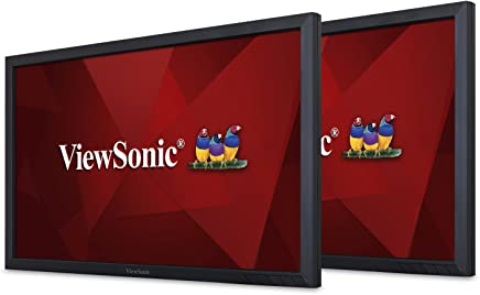 ViewSonic VG2449_H2 24 Inch Dual Pack Head-Only 1080p LED Monitors with HDMI DisplayPort Mini DP VGA and Daisy Chain for Home and Office