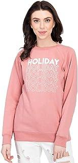 KOTTY Women's Printed Full Sleeve Sweatshirt