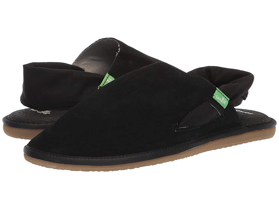 Sanuk Yoga Sling Cruz Suede (Black) Women