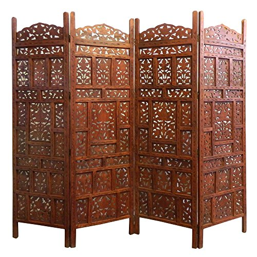 Paravent Jaipur 200 x 183 cm Mangobaumholz Indische Trennwand Raumteiler Möbel Wohnzimmer