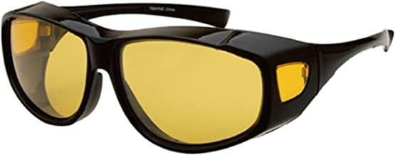 Yellow Night Vision Driving Fit Over Glasses Wear Over Prescription Glasses