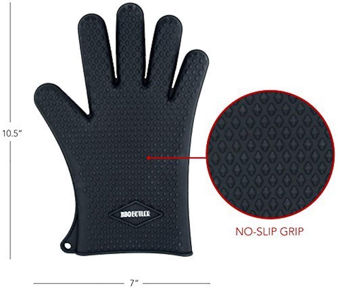 BBQ Butler Silicone Heat Resistant Cooking Gloves and Original Bear Paws Pulled Pork Shredder Claws