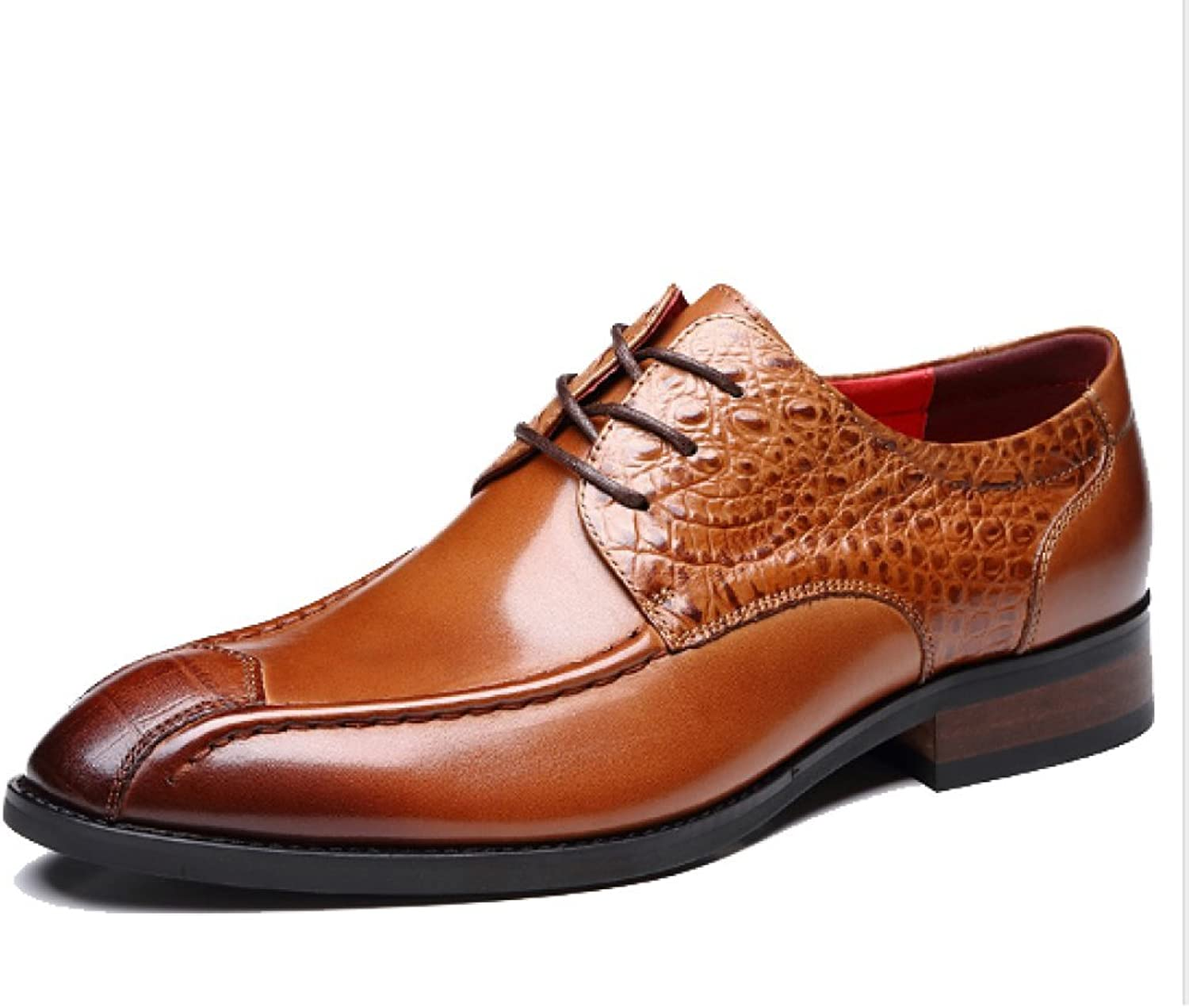 NIUMJ Men's Leather shoes Autumn High-end Handmade shoes Pointed Business Formal Fashion Trend