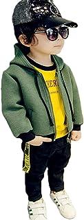 [もうほうきょう] ボーイズコート パーカー 上着 キッズ服 フードコート 子供服 春秋 綿 グリーン スウェット ショートコート