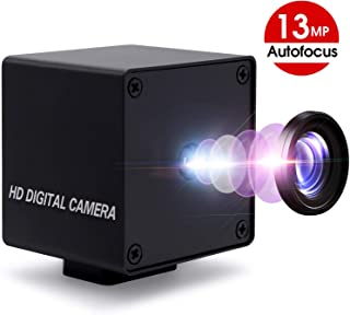 13 Megapixel Webcam with Autofocus Lens 4K USB Camera Module with IMX214 Sensor 3840x2880 Webcamera for Industrial USB Embedded Camera for Mac OS Linux Android Windows, Support OTG USB 2.0, Plug&Play