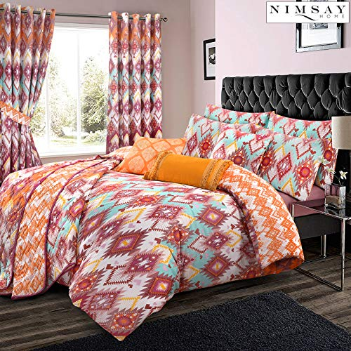 Nimsay Home Navajo 100% Cotton Geometric Duvet Cover Set (Multicoloured, Double)