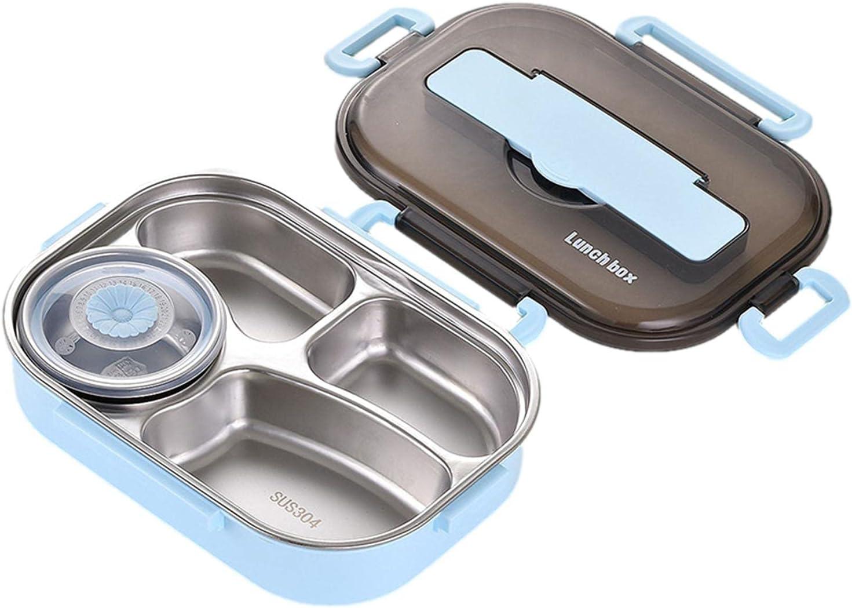 Fiambrera Bento para niños adultos fiambrera para estudiantes con aislamiento térmico de 3 compartimentos Bento Fiambrera juego de vajilla, recipientes de comida a prueba de fugas apto para microondas