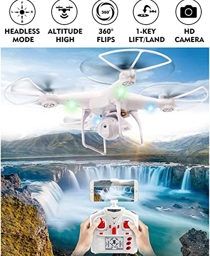 ERKEJI Drohne Drone Fernbedienung Vier-Achs Flugzeug pneumatische H  Spielzeug Flugzeug 480p Luftbild Echtzeitübertragung WiFi behoben FPV