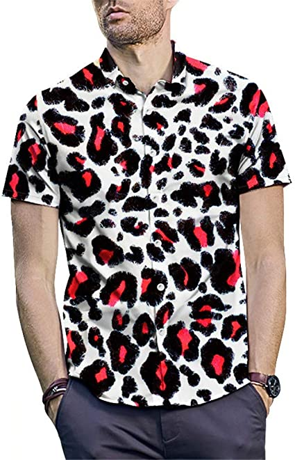 Camisa de vestir estampada para hombre Verano Playa ...
